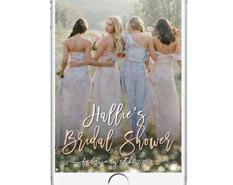 Bridal Shower Snapchat Geofilter, Classy Baby Shower Geofilter, Unique Geofilter, Wedding Geofilter, Wedding Shower Snapchat Filter Pretty