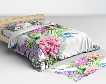 Duvet Cover Shabby Chic, Bedding, Bedspread, Duvet Covers, Doona Covers, Comorters, Bed Covers, Twin Full Queen King Sizes