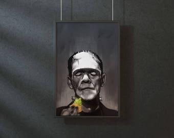 Frankenstein - Guacamole is extra - original art print