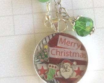 christmas charms keychain, xmas keyring, christmas planner accessory,  handmade keyring, festive gift idea, personalised keyring, christmas