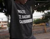 "UNISEX Feminist Long Sleeve Shirt: ""Nolite Te Bastardes Carborundorum"" (Quote from the Handmaid's Tale) Fourth Wave Feminist Apparel"