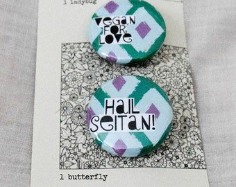 Vegan buttons | Set of two