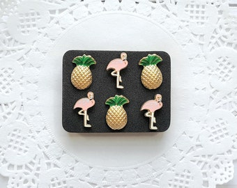 Decorative Pushpins, Thumb Tacks, Flamingos, Pineapples, Decorative Push Pins, Pushpins, Thumbtacks, Novelty Pushpins, Fun Thumb Tacks