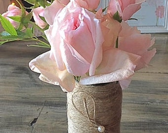 Twine and Pearl Bow Vase