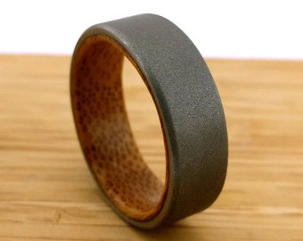 Bamboo Wood Ring, Exotic Wood Ring, Wooden Jewelry, Bamboo Endeavors, Wood Wedding Band, Handmade Jewelry, Bamboo Board, Slab of Wood, GJG