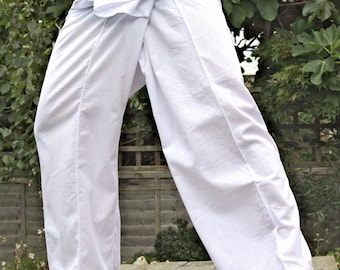 Thai Fisherman Pants 100% cotton with side pocket (Western Size)