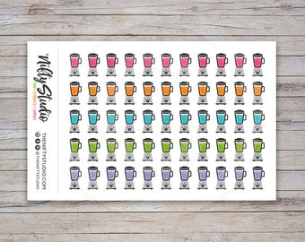 Smoothie Multi Color Stickers | Nutrition Stickers | Planner Stickers | The Nifty Studio [163]