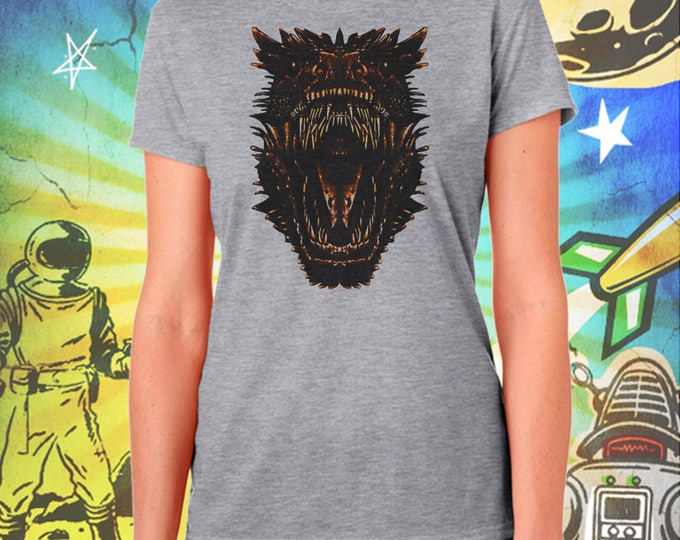 Game of Thrones / Dragons Mouth / Drogon / Women's Gray Performance T-Shirt