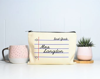Personalized Teacher Gifts, Back To School Teacher Gifts, Gift for Teacher, Teacher Gifts Beginning of Year, Teacher Pencil Bag, Pencil Case