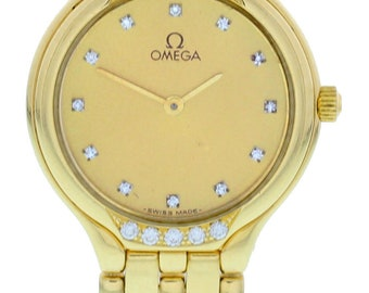 Omega DeVille Yellow Gold Ladies Watch