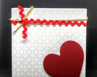 Red Corner Heart Square
