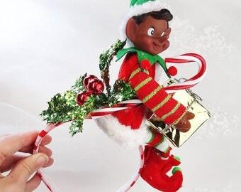 african christmas headband, african christmas sweater women, african elf headband, Ugly Sweater Party, Ugly Christmas Sweater Party, present
