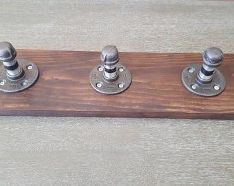 Reclaimed Wood Industrial Pipe Coat Rack