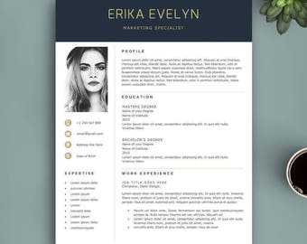 Resume Template Instant Download, Professional Resume Template, Creative Resume Template, Professional CV Template, Modern Resume Template.