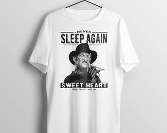 Freddy-krueger-t-shirt-never-sleep-again-t-shirt horror movie shirt