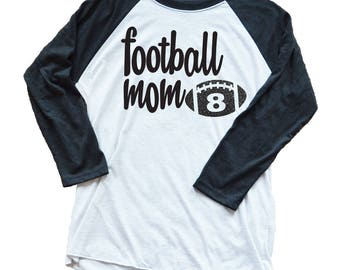 Personalized Football Shirt - Football Mom - Favorite Football Player - Custom Game Day Shirt -  Custom Football Number - Game Day
