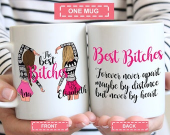 Personalised The Best Biches, Funny Mug, You're my favorite Bitch, Best Friend, Best Bitches, Gift, Girlfriend, Favorite Friend
