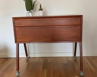 Danish Midcentury Teak Sewing Table