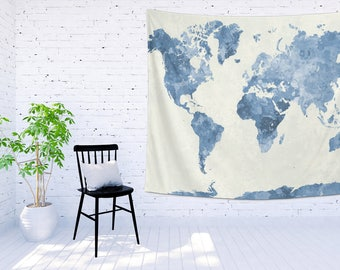 world map tapestry etsy us map watercolor tapestry 15