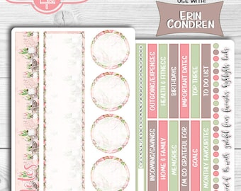 April Notes Page, Monthly Notes Page, April 2018 Erin Condren Notes,Notes Page Kit, Easter Notes, Tulip Stickers, Notes Page, Floral Notes