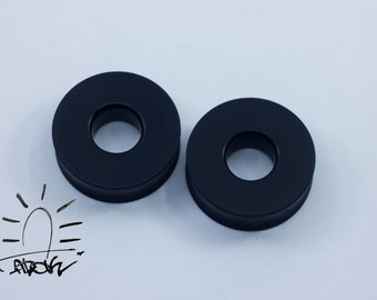 Black plugs and tunnels - wide walled ear tunnels - tunnels -ebonite tunnels - black plugs -black tunnels - ebony tunnels - tunnels 16mm