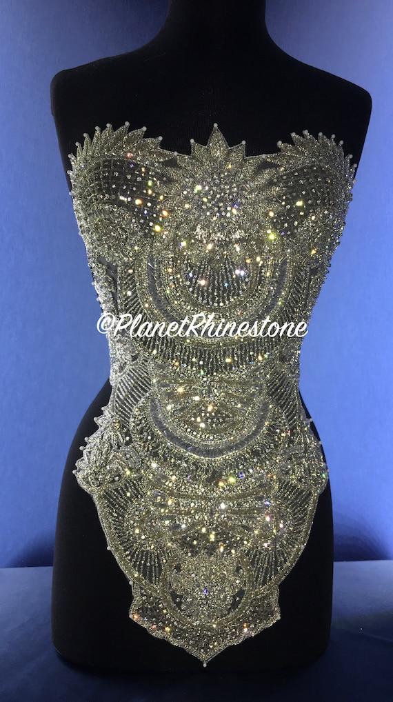 Tiffany Rhinestone Beaded Bodice #F225