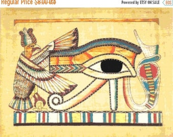 Egyptian hieroglyphs Cross Stitch Pattern Egyptian pattern hieroglyphs pattern -276 x 211 stitches- INSTANT Download - B965