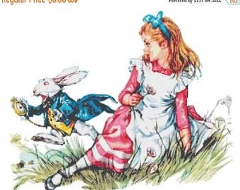 Alice Cross Stitch Pattern Pdf Alice pattern punto de cruz kreuzstitch - 276 x 218 stitches - INSTANT Download - B1393