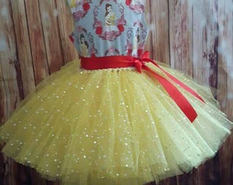 Sale Belle inspired tutu dress age 5-6 yrs