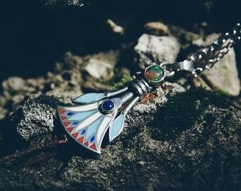 """Silver Handmade pendant """"Nefertem"""""""