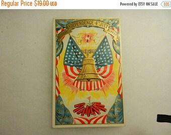 Summer Sale Vintage 4th of July Postcard