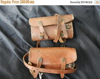 Summer Sale Vintage pre WW2 US Military Marked R.L.B. Bicycle Pouch set
