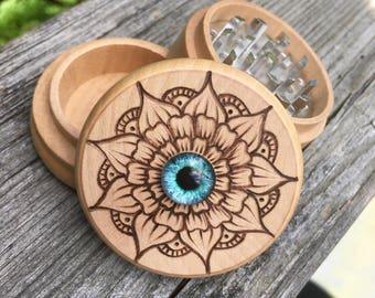 One of a kind third eye herb grinder
