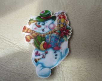 Snowman, Christmas, Needleminder, Needlekeeper, Needle magnet, Magnet Minder