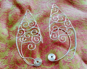 Child Sized Silver Elf Ears - Copper Wire
