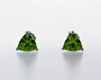 925 Sterling Silver Peridot Earring