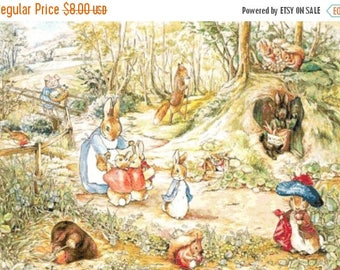 "beatrix potter counted Cross Stitch beatrix potter Pattern chart pdf format needlework korss - 27.14"" x 18.93""  - L1145"