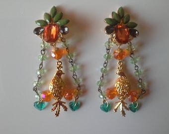 beautiful Earrings: birds of lights