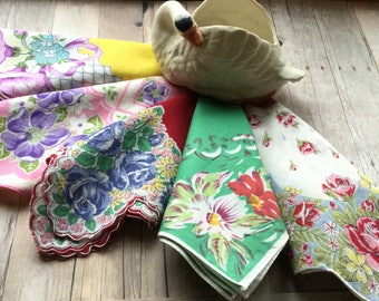Vintage English Garden Hankies - All Floral - All Charming - 5