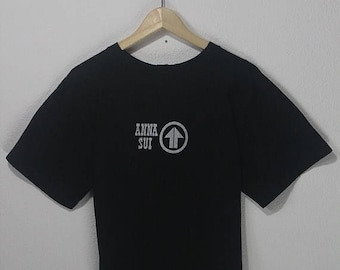 ON SALE 4 Vintage 90s ANNA Sui spell out logo womens  fashion style tee shirt