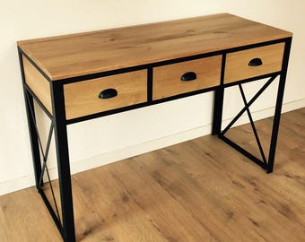 Loft - industrial style 3 drawer console