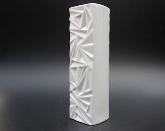 Winterling Op art porcelain vase Space Age Mid Century Modern