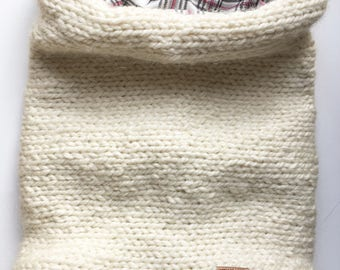 Flannel lined scarf-Alpaca