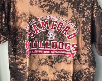 Distressed Samford Bulldogs Tee