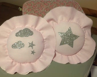 Coussinou baby bed, hold baby blanket, deco.