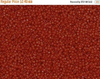 ON SALE Toho 15/o Round Opaque Cherry Red Seed Bead,  (TR-15-45A), 10 grams