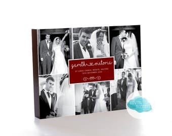 Personalised Wedding/Anniversary Photo Block