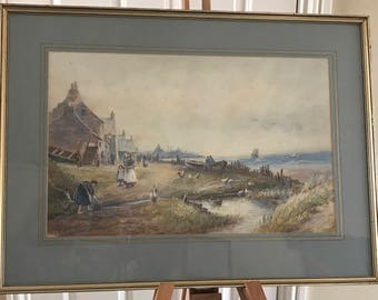 Wonderful 19th Century J Morris Framed And Glazed Watercolour