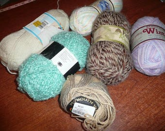 Yarn Skeins Assorted Colors Weights Acrylic/Alpaca/Cotton