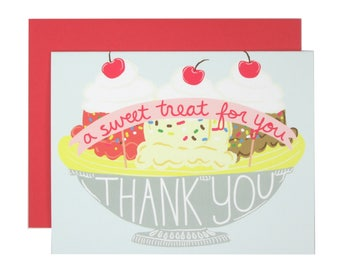 A Sweet Treat for You Thank You Card | Greeting Card | Folk and Fauna Co.